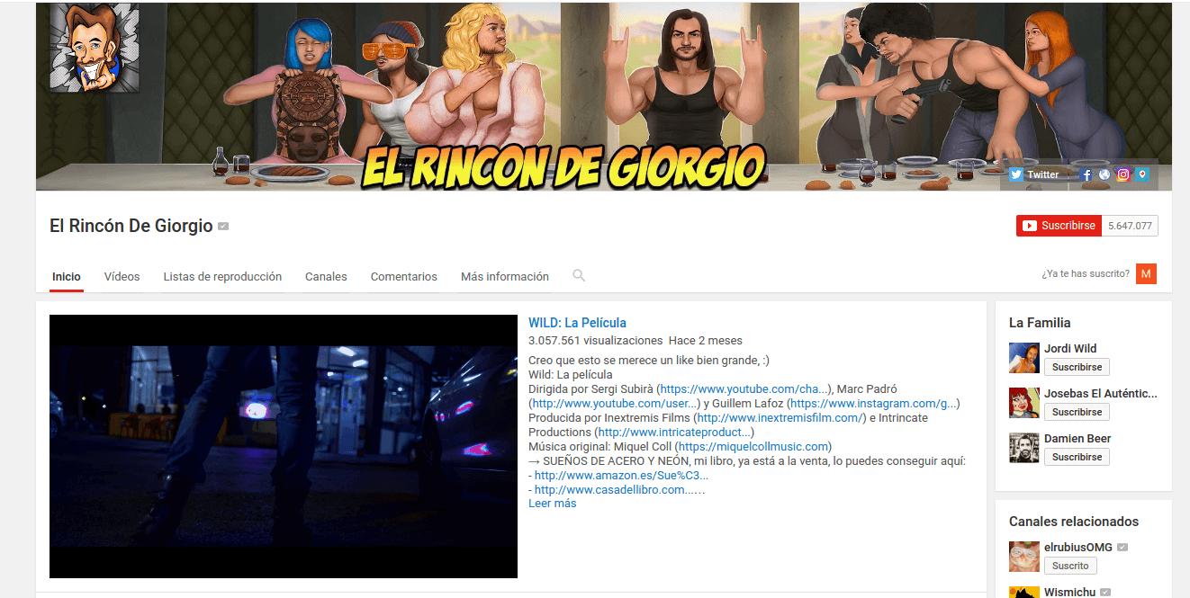 Youtuber Rincon de Girogio