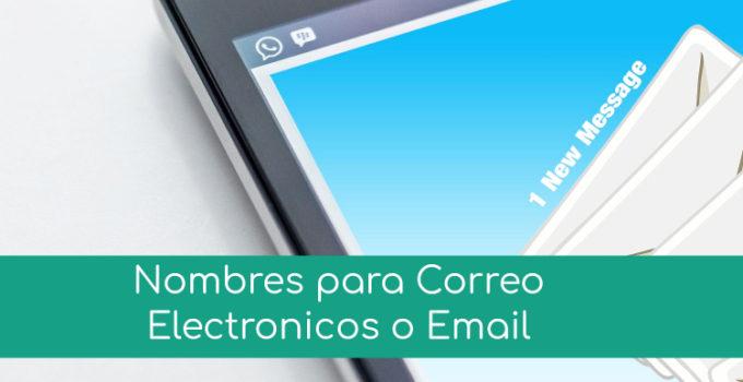 Nombres para correo electronico o email